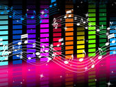 Music Background Means Rock Pop Or Classical Sound — Stock Photo