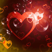 Hearts Background Means Romance  Love And Passio — Stock Photo