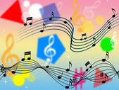 Music Background Shows Rock Pop Or Classica — Stock Photo