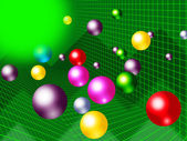Green Balls Background Shows Brightness Colorful And Grap — Stock Photo