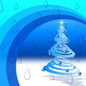 Winter Arcs Background Means Night Snow And Christmas Tre — Stock Photo