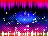 Music Background Means Singing Dancing Or Melod — Stock Photo