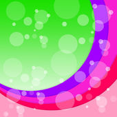 Bubbles Arcs Background Shows Circular Floating Circle — Stock Photo