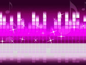 Pink Music Background Means Singing Jazz And Piec — Stock Photo