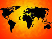 World Map Background Means International Oceans Or Global Ma — Stock Photo