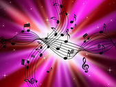 Pink Music Background Shows Musical Instruments And Brightnes — Stock Photo