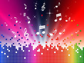Colorful Music Background Shows Sounds Jazz And Harmon — Stock Photo