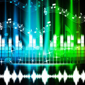 Music Background Shows Songs Harmony And Melod — Stock Photo