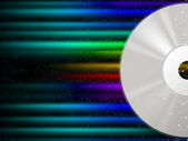 CD Background Means Rainbow Beams And Music — Stock Photo