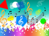 Music Background Shows Pop Classical Or Roc — Stock Photo