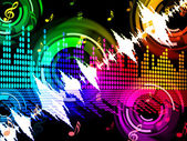 Sound Wave Background Shows Beats Spectrum Technolog — Stock Photo