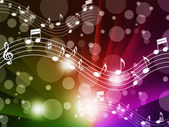 Music Background Meaning Singing Instruments And Note — Foto Stock