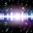 Soundwaves Background Mean Music Singing And Melodie — Stock Photo #48870157