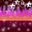 Soundwaves Background Shows Music Singing And Melod — Stock Photo #48870243
