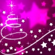 Purple Christmas Tree Background Means Holiday Season And Star — Stock Photo #48870677