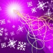 Purple Squiggles Background Shows Pattern And Snowflake — Stock Photo #48874385