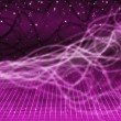Purple Squiggles Background Means Tangled Lines And Star — Stock Photo #48875153
