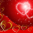 Twinkling Hearts Background Shows Lover And Fondnes — Stock Photo #48875309