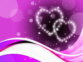 Purple Hearts Background Means Romance Affections And Twinklin — Stock Photo