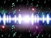 Soundwaves Background Mean Music Singing And Melodie — Stock Photo