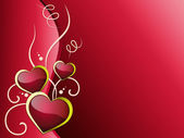 Hearts Background Means Romanticism  Passion And Love — Stock Photo