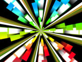 Wheel Background Shows Multicolored Rectangles And Spinnin — Stock Photo