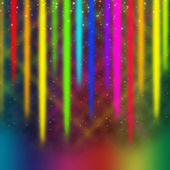 Colorful Streaks Background Means Multicolored Bands in Sk — 图库照片