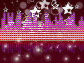 Soundwaves Background Shows Music Singing And Melod — Stock Photo