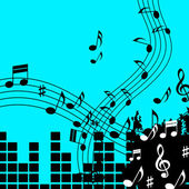 Green Music Background Shows Playing Song Or Po — Stock Photo