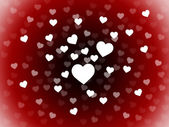 Bunch Of Hearts Background Shows Romance  Passion And Lov — Stock Photo