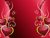 Hearts Background Shows Affection  Attraction And Passio — Foto de Stock