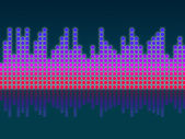 Soundwaves Background Means Making Music And DJing — Stock Photo