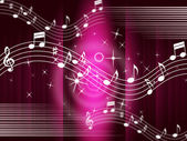Purple Music Background Means Melody And Tun — Stock Photo