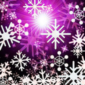 Snowflake Background Means Snowing Sun And Winte — Stock Photo