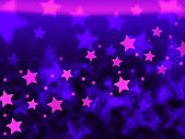 Purple Stars Background Shows Celestial Light And Starr — Stock Photo