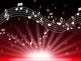 Red Music Background Means Musical Playing And Brightnes — Stock Photo