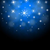 Snowflakes Blue Background Shows Frozen Shiny Star — Foto de Stock