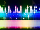 Rainbow Music Background Means Instruments Musical Or Classica — Stock Photo