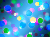 Blue Spots Background Shows Bright Circles Patter — Stock Photo