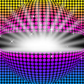 Disco Ball Background Means Light Colors And Part — Stock Photo