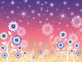 Flowers Background Means Growing Flowering And Natur — 图库照片