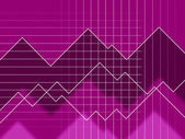 Purple Spikes Background Means Peaks And Jagged Line — Stock Photo