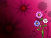 Flowers Background Shows Blossoming Growth And Natur — 图库照片