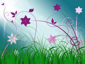 Elegant Floral Background Means Spring Season Or Botanical Decor — 图库照片