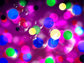 Purple Spots Background Shows Spotted Decoration And Bubble — Stock Photo