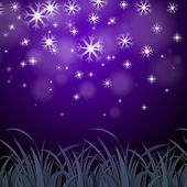 Snowflakes Purple Background Shows Wintertime Wallpaper Or Ice P — Stock Photo