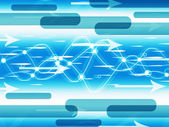 Blue Double Helix Background Means Information Highwa — Stock Photo