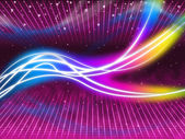 Purple Swirls Background Shows Colorful Flourescent And Star — Stock Photo