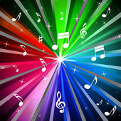 Colorful Music Background Means Beams Light And Song — Stock Photo