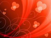 Elegant Hearts Background Shows Delicate Romantic Wallpape — Stock Photo